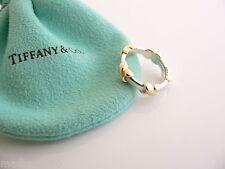Tiffany & Co Silver 18K Gold Signature X Stacking Ring Band Sz 5.25 Rare