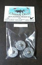 Chinook Diver Replacement Weight Kit for Chinook Trolling Divers Size #4 and #5