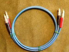 New 6' Blue Belden 1505A High Quality/ Studio Grade Analog RCA Audio Cables