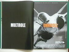 8/2006 PUB DASSAULT AVIATION RAFALE INTERNATIONAL OMNIROLE FIGHTER ORIGINAL AD