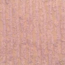 SHABBY BIG STRIPE LAVENDER COTTON CHENILLE FABRIC 1YD