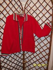Modern Curves Womens Warm Up Jacket Red Ctn/poly Sz M NWT
