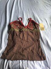 BNWT Oakley Down Under Cami Small Tank Top T-shirt Dark Brown Tankini