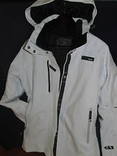 Eider technical ski jacket woman's size 42/10 brushed winter white/crystal