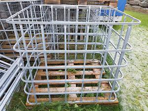 Gitterbox Lagerbox Holzbox Feuerholzbox Kaminholz Stapelgestelle Umzugskiste