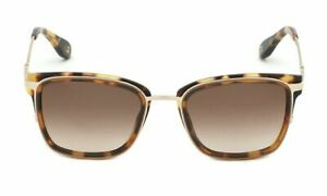 Carolina Herrera brown sunglasses women vintage squared tortoise print
