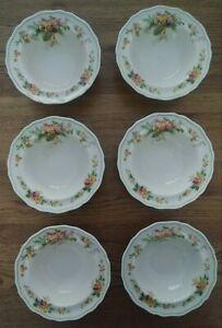 Royal Doulton Lipped Dessert Bowls X 6 WATTLE D6212 1930's