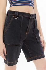 Urban Outfitters BDG Shauna Denim Low-Rise Utility Shorts Baggy NWT Blogger 90s