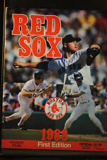 TWO 1988 RED SOX PROGRAMS 1ST EDITION SCORECARD TORONTO BLUE JAYS NM ONE MONEY