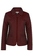New HOBBS Berry Red Quilted Molly Jacket Size 12 Equestrian BNWT