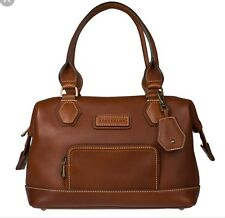 Longchamp Legende Sport Satchel Bag Cognac Leather $965 crg