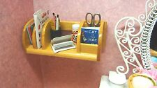 Dollhouse Miniature Wood Wall Book Shelf School Furniture 1:12 Scale Vintage