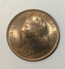 1900 GREAT BRITAIN QUEEN VICTORIA HALF PENNY. Uncirculated ~470.