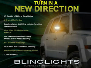 Add-On LED Side View Mirror Turnsignal Lights for 2007-2017 Jeep Patriot