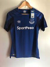 Everton FC Umbro Women's 17/18 Home Shirt - Size 10 - Blue - No Name - New
