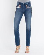 """1.9218 Designer Jeans mit Schmucksteinverzierung """"blau"""" Gr. 40"""