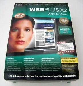SERIF WEBPLUS X2 WEBSITE MAKER - NEW RETAIL BOXED & FACTORY SEALED