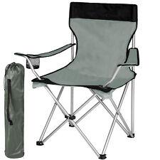 Silla de camping con alta Lehne silla plegable silla dirigida por silla pesca silla de jardín gris