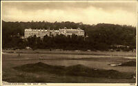 Grange over Sands England Cumbria AK ~1930 Golf Hotel Building Gebäude Panorama