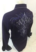 Mens HOUSE OF LORDS Tribal Stones Button Down Shirt Purple Roar Wit Class NWT 80