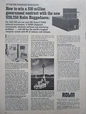 6/1973 PUB ROLM RUGGEDNOVA 1602 MIL SPECS E-5400 AIRBORNE E-16400 SHIPBOARD AD
