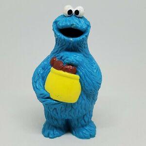 Vintage Sesame Street Cookie Monster Cookie Jar PVC Figure Applause