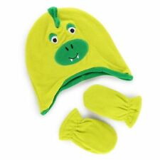 Cherokee Toddler 2t-5t Polyester Green Dinosaur Hat And Mitten Set