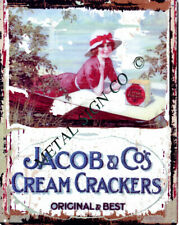 JACOBS & CO CREAM CRACKERS metal wall sign pub,bar shed garage cafe shop kitchen