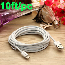 10ft Cable Apple Certified MFI Lightning Sync Data Cord Charger f iPhone X 8 7 +