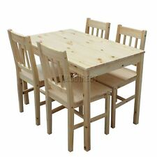 WestWood Quality Solid Wooden Dining Table and 4 Chairs Set Kitchen DS02 Pine