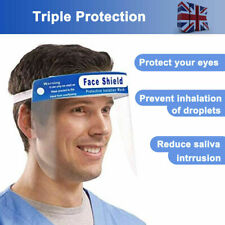 5 x Full Face Covering Visor Mask Shield Protection Reusable Splash Guard Safety