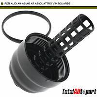 A-Premium Oil Filter Housing Cover Cap Compatible with Audi A4 A6 A4//A5//A6//A7//A8 Quattro Q5 Q7 S4 S5 SQ5 Volkswagen Touareg V6 3.0L 3.2L