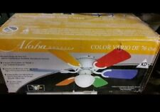 """Small 30"""" Kids Room Ceiling Fan Pastel or Primary Color Blades Ceiling Hugger"""