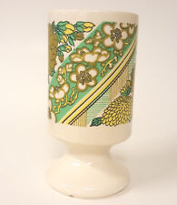 Green Floral Flower Tall Pedestal Coffee Mug Tea Cup B75