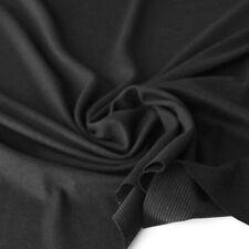 schwarzer Woll-Jersey herbstlich weicher Stoff Shirt Kleid Rock Hose Jerseystoff