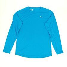 Saucony Men's Blue Long Sleeve Shirt Athletic Lightweight Running Top MEDIUM