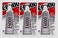 3 E6000 All Purpose Industrial Strength Adhesive Permanent Bond Craft Glue 2oz