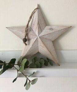 White Washed Rustic Wood Amish Barn Star Shabby Hanging Wall Wedding Decoration