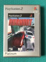 Burnout- Sony Playstation 2 PS2 Racing Game UK Tested-platinum