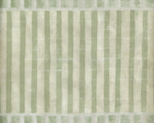 LIGHT GREEN AND OFF WHITE STRIPE MARBLED LOOK WALLPAPER BORDER