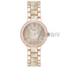Fossil Original ES3716 Women's Virginia Rose Gold / Horn Acetate Stainless Steel