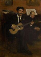 Lorenzo Pagans & Auguste de Gas, 1871, EDGAR DEGAS French Impressionism Poster