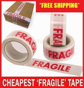 "FRAGILE PRINTED STRONG PARCEL TAPE MULTILISTING 12 6 24 36 48mm 66m BOX 2"" 72"