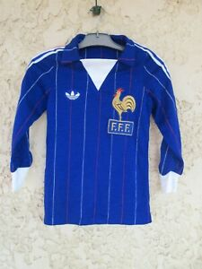 Maillot équipe de FRANCE ADIDAS vintage Mundial ESPANA 82 shirt trikot maglia