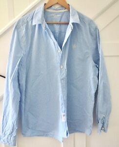 White Stuff  lovely cotton Shirt sz XL., blue and white v. fine check