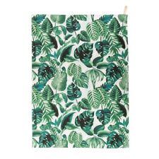 New Sass & Belle Botanical Jungle 100% Cotton Tea Towel Green Leaves Monstera