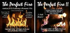 (2) FIREPLACE DVD's Real Crackling Sounds Cozy Romantic Video Christmas Yule Log