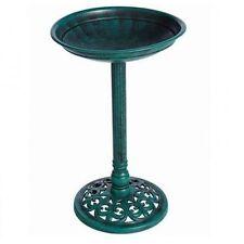 Gardman A01273 Verdigris Pedestal Green Wild Bird Bath Classic Garden New