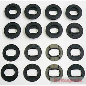 1 Satz 8 Stück Ovale Befestigungen für VW Fußmatten Gummimatten von Mattenprofis