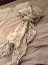 Grey Washed Affect Crinkle Scarf Approx 90 X 108 Cm